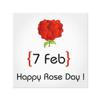 Happy Rose day Canvas Print