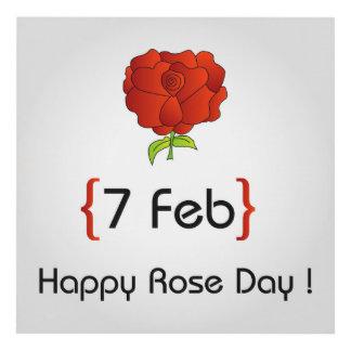 Happy Rose day Panel Wall Art