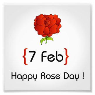 Happy Rose day Photo Print