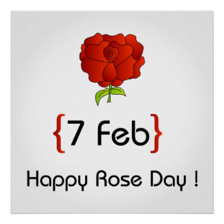 Happy Rose day Poster