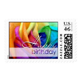 Happy Rose | Happy Birthday zazzle_stamp