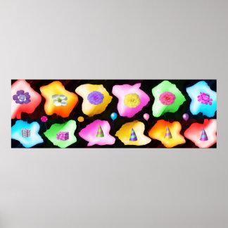 HAPPY Rose Petal Art Celebrations Poster