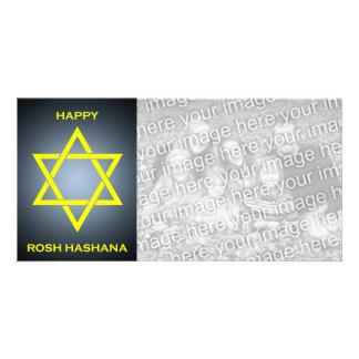 happy rosh hashana : star of david photo card