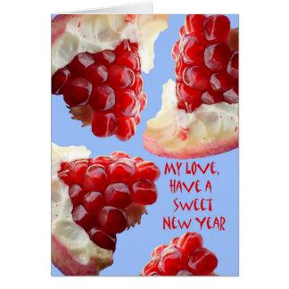 Happy Rosh Hashanah for a Husband, Pomegranate Card