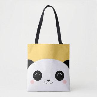 Happy Rosy Cheeked Kawaii Panda Face Tote Bag