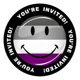 Happy Round Asexual Flag Card