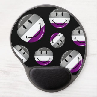 Happy Round Asexual Flag Gel Mouse Pad