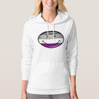 Happy Round Asexual Flag Hoodie