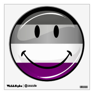 Happy Round Asexual Flag Wall Sticker