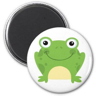 Happy Round Frog 2 Inch Round Magnet