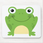 Happy Round Frog Mouse Pad