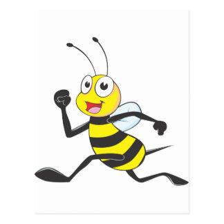 Happy Running Bee Postcards