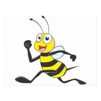 Happy Running Bee Post Cards