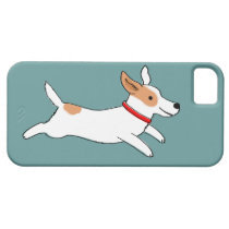 Happy Running Jack Russell Terrier - Cute Dog iPhone SE/5/5s Case