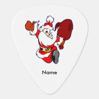 Happy Running Santa Guitar Pick