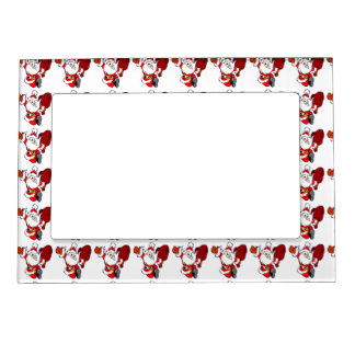 Happy Running Santa Magnetic Picture Frame
