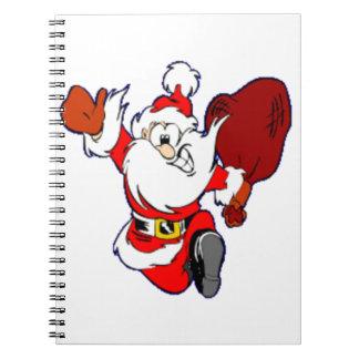 Happy Running Santa Notebook
