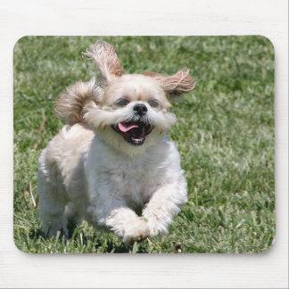 Happy running Shih Tzu Mouse Pad