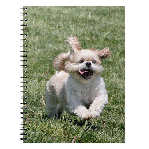 Happy running Shih Tzu Spiral Notebook
