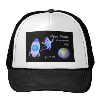 Happy Russian Cosmonaut Day April 12 Trucker Hat