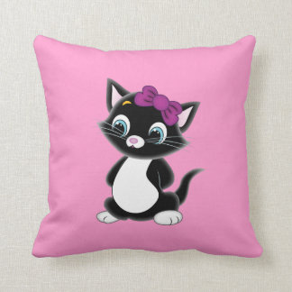 Happy Sad Kitten Pillow