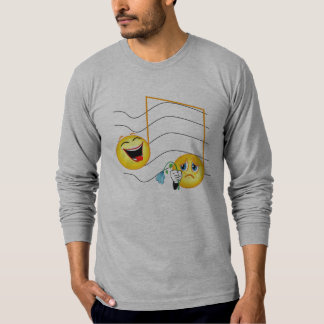 happy sad notes T-Shirt