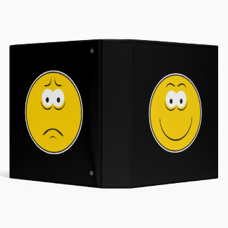 Happy Sad Smiley Face Notebook 3 Ring Binders