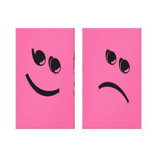 Happy & Sad :) Wrapped Canvas