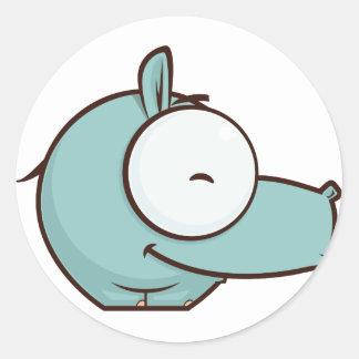 Happy Safari Classic Round Sticker