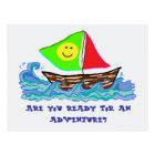 Happy Sailboat, Back to School Welcome Postcard