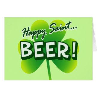 Happy Saint ... BEER! Card