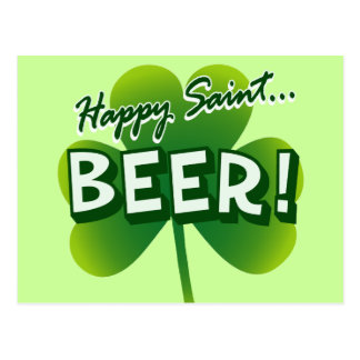 Happy Saint... BEER! Postcard