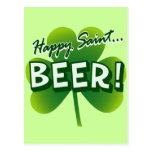 Happy Saint... BEER! Postcard
