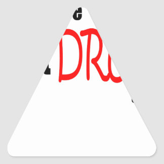 happy saint patrick day irish dionysus drunk triangle sticker