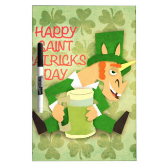 Happy Saint Patrick's Day Dry Erase Whiteboards