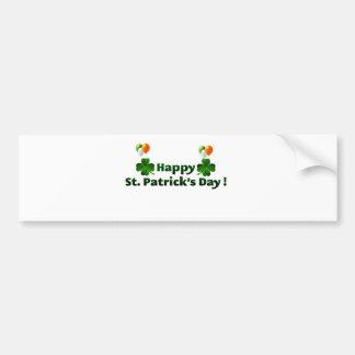 Happy Saint Patricks Balloons Car Bumper Sticker