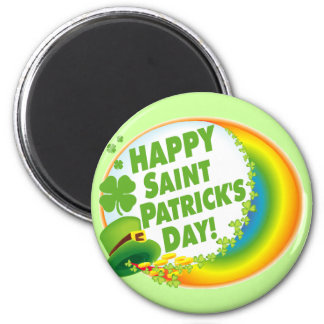 Happy Saint Patrick's Day! 2 Inch Round Magnet