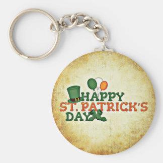 Happy Saint Patricks Day Basic Round Button Keychain