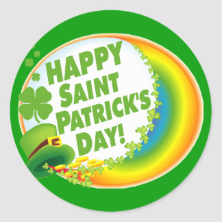 Happy Saint Patrick's Day! Classic Round Sticker