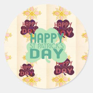 Happy Saint Patrick's Day Classic Round Sticker