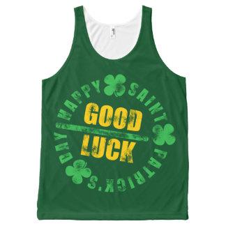 Happy Saint Patricks Day Good Luck All-Over Print Tank Top
