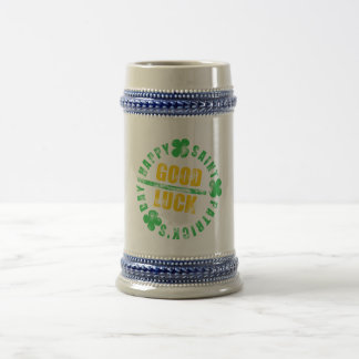 Happy Saint Patricks Day Good Luck Beer Stein