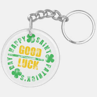 Happy Saint Patricks Day Good Luck Keychain