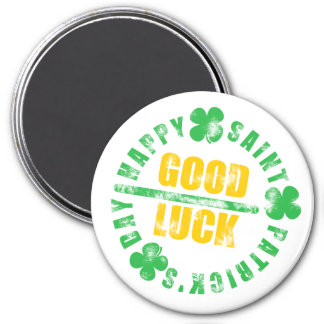 Happy Saint Patricks Day Good Luck Magnet