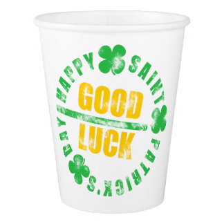 Happy Saint Patricks Day Good Luck Paper Cup