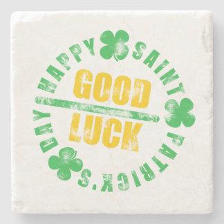 Happy Saint Patricks Day Good Luck Stone Coaster