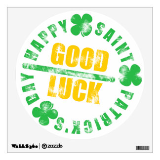 Happy Saint Patricks Day Good Luck Wall Sticker