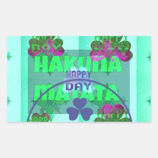 Happy Saint Patrick's Day Hakuna Matata Rectangular Sticker