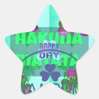 Happy Saint Patrick's Day Hakuna Matata Star Sticker