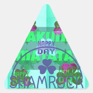Happy Saint Patrick's Day Hakuna Matata Triangle Sticker